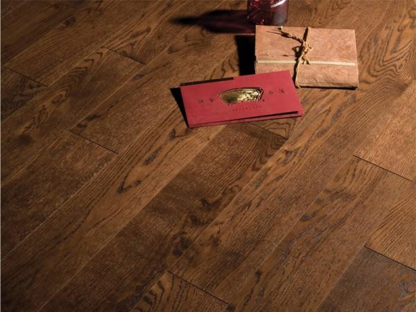 Массивная доска Coswick Кантри коллекция Дуб Бразильский орех 82.55 мм