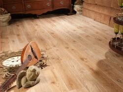 Массивная доска Coswick Кантри коллекция Дуб Антик белый 127 мм