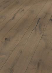 Паркетная доска Meister HD 300 Lindura 8411 Дуб Серая глина Рустик брашированный под маслом 270 мм