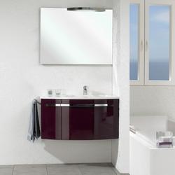 Pelipal Delta Комплект подвесной мебели 950 L левая Ежевично-глянцевый