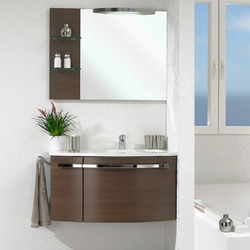 Pelipal Delta Комплект подвесной мебели 950 L левая шоколад
