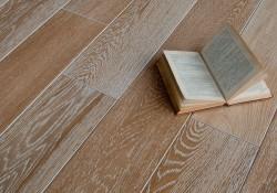 Массивная доска Magestik Floor Дуб Беленый брашированный 150 мм