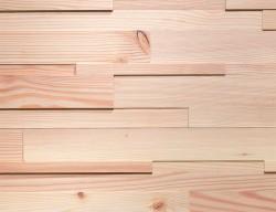 Стеновые панели Admonter Cube Деревянные 3D панели из Лиственницы под белым маслом